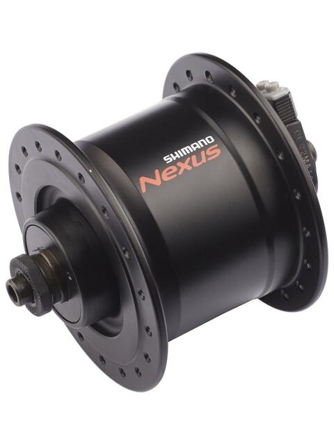Shimano Nexus DH-C3000-3N - Moyeu - 3 Watt pour freins sur jante/dispositif de fixation rapide noir
